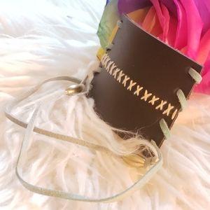 NWOT Leather BoHo Hair Wrap or Bracelet